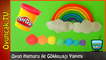 Play Doh Oyun Hamuru ile Gökkuşağı Yapımı