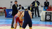 kenouche Nory vice-champion de France junior en 96 kg lutte gréco à Aulnay sous bois le 3 et 4 avril 2015