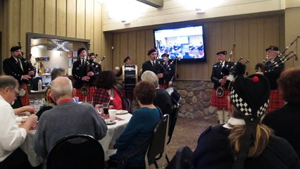 St. Andrew's Pipe Band at Troy's Kilgour Scottish Centre