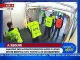 Agressões de Hulk e Sapunaru no Túnel da Luz, após o Benfica-Porto @ SIC Notícias 2010