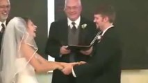 Funniest Wedding In The World Bride can't stop laughing during wedding vows