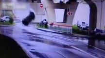 Crash de 20 mètres d'un Range Rover en Russie