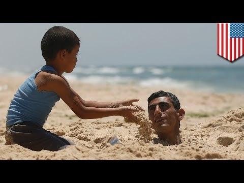 На пляже в Северной Каролине мужчину заживо засыпало песком