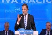 """Rajoy pide al PP """"no distraerse"""" de los objetivos"""