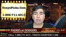 MLB Free Pick LA Dodgers vs. San Diego Padres Odds Prediction Preview 4-7-2015