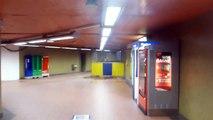 quand HUGUES DRAYE chante au métro (Mérode, Montgomery, Bxl), janvier 2015