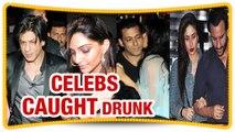 Bollywood Celebrity Caught Drunk - Salman Khan, Sanjay Dutt And Shahrukh Khan - The Bollywood