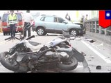 Fatal dash cam crash: Head on collision, student dozes off and kills 2 scooter riders
