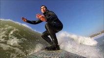Longboarding Surfing Widemouth Bay Bude Cornwall GoPro HD Hero3 Black Edition