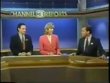 KCRA 12/31/1994 Walt Gray & Kelly Ryan Sunrise News clips - NBC 3 Sacramento 80s 90s