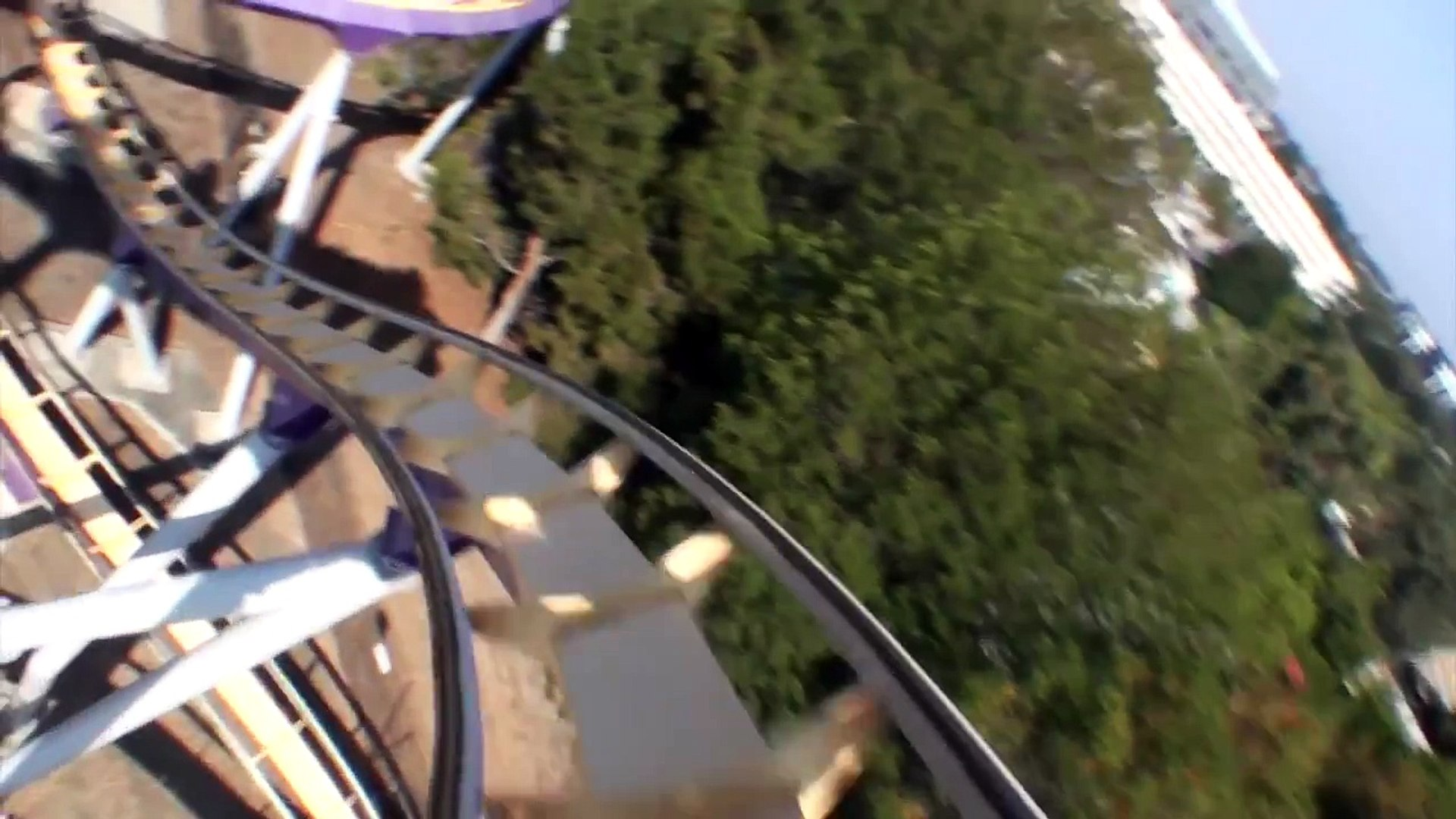 Vortex Roller Coaster POV Only Front Seat Onride California's Great America B&M Stand-Up