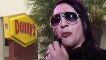 Marilyn Manson GRAND SLAMMED in the face ... Vows Revenge for Denny's Fight