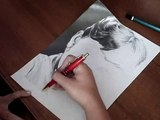 Portret Audrey Hepburn (ołówek) - Drawing portrait of Audrey Hepburn (pencil)