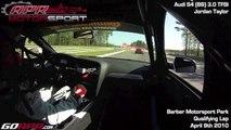 Jordan Taylor behind the wheel of the APR Motorsport Audi B8 S4 at Barber Motorsport Park