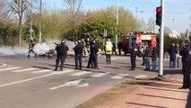 Expulsion de squatteurs rue René Coty à Dijon
