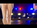 Полуголую женщину арестовали за вождение в нетрезвом виде