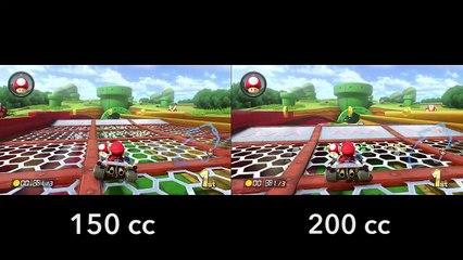 Mario Kart 8 - 200cc vs 150cc - Piranha Plant Pipeway de Mario Kart 8