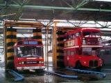 A few LONDON TRANSPORT + LONDON BUSES GARAGE SCENES
