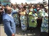 Visite des chantiers de Port-Gentil : Interview du Président Ali Bongo Ondimba
