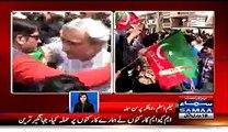MQM Workers Attacked PTI Workers At Jinnah Ground_- Samaa News Host Neelum Aslam Exposed MQM
