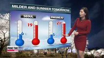 Pleasant spring weather in store for tomorrow