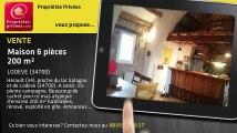 A vendre - maison - LODEVE (34700) - 6 pièces - 200m²
