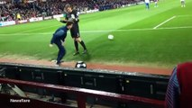 Cheeky Villa ball boy nutmegs QPR keeper Rob Green