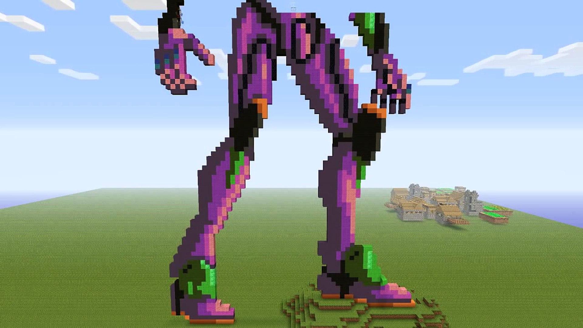 Minecraft Pixel Art Evangelion Eva 01