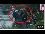 VIDEO: Un riverain se fait marteler par un chauffard. C'est pas ce qui se fait de mieux en ce moment