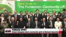 Global delegates share spirit of 'pumassi' at National Assembly