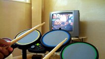 rock band drums with guitar hero world tour