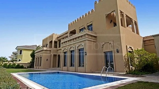 Arabic Gallery View Style  Unfurnished  Sea View  A Frond  Fardh Villas   Palm Jumeirah