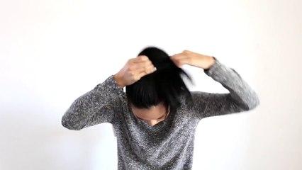 SUPER EASY HAIR BUN TUTORIAL