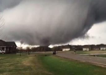 Tornado Touches Down in Rochelle, Illinois