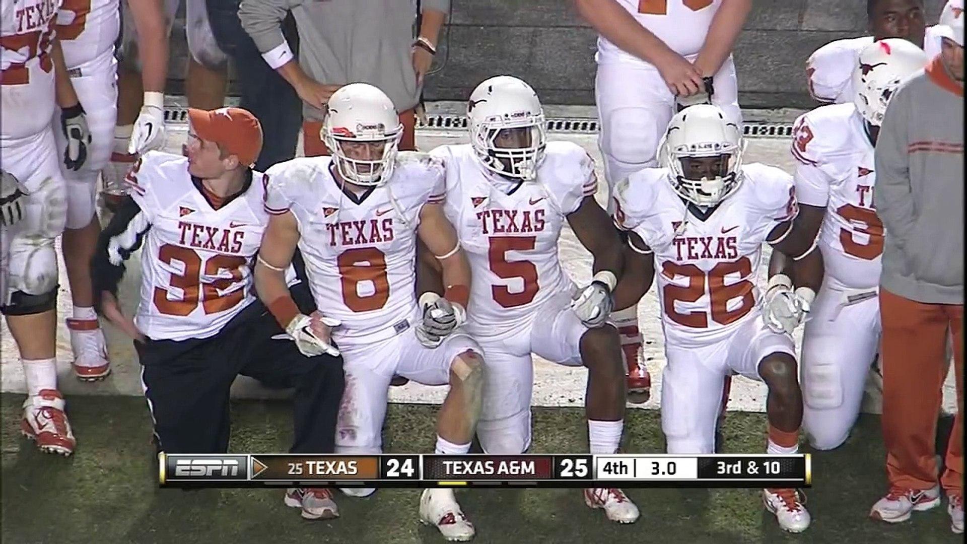 Texas Kicker Justin Tucker Makes 40 Yard Field Goal To Beat Texas A M Video Dailymotion