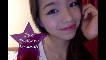 Duo Eyeliner Makeup Tutorial - 雙眼線妝容 - Spaceforher