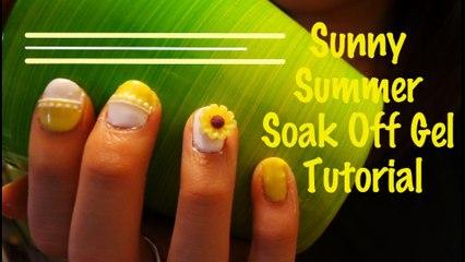 炎炎向日葵指甲 - Sunny Soak Off Gel Nails Tutorial - Spaceforher