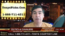 Cleveland Cavaliers vs. Boston Celtics Free Pick Prediction NBA Pro Basketball Odds Preview 4-10-2015
