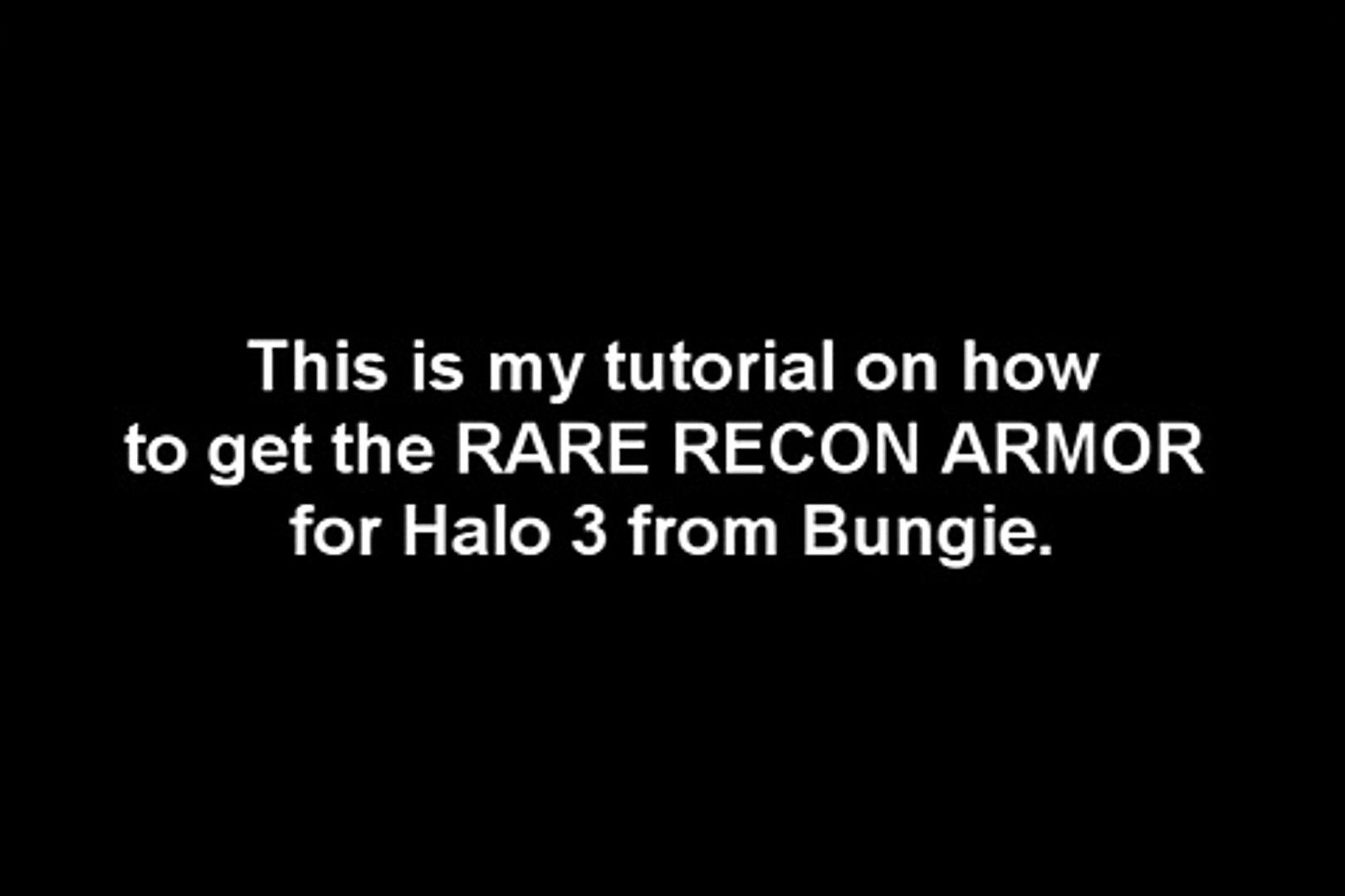 Get/Unlock Halo 3 Flaming Recon Armor FREE GLITCH ALL