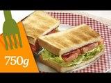 Recette du Sandwich BLT ou Sandwich au Bacon, Laitue et Tomate - 750 Grammes