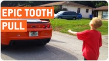 Chevy Camaro Pulls Kid's Tooth | Coolest Dad Around
