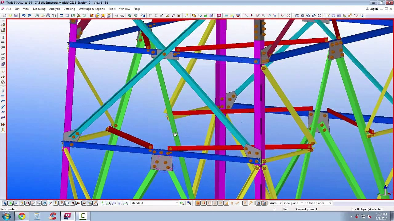 Transmission Tower Tekla Structures