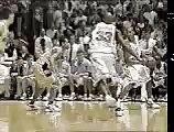 Vince Carter in North Carolina Dunks Over Tim Duncan