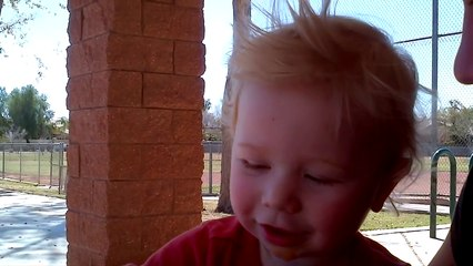 Greyson enjoying some chat time!