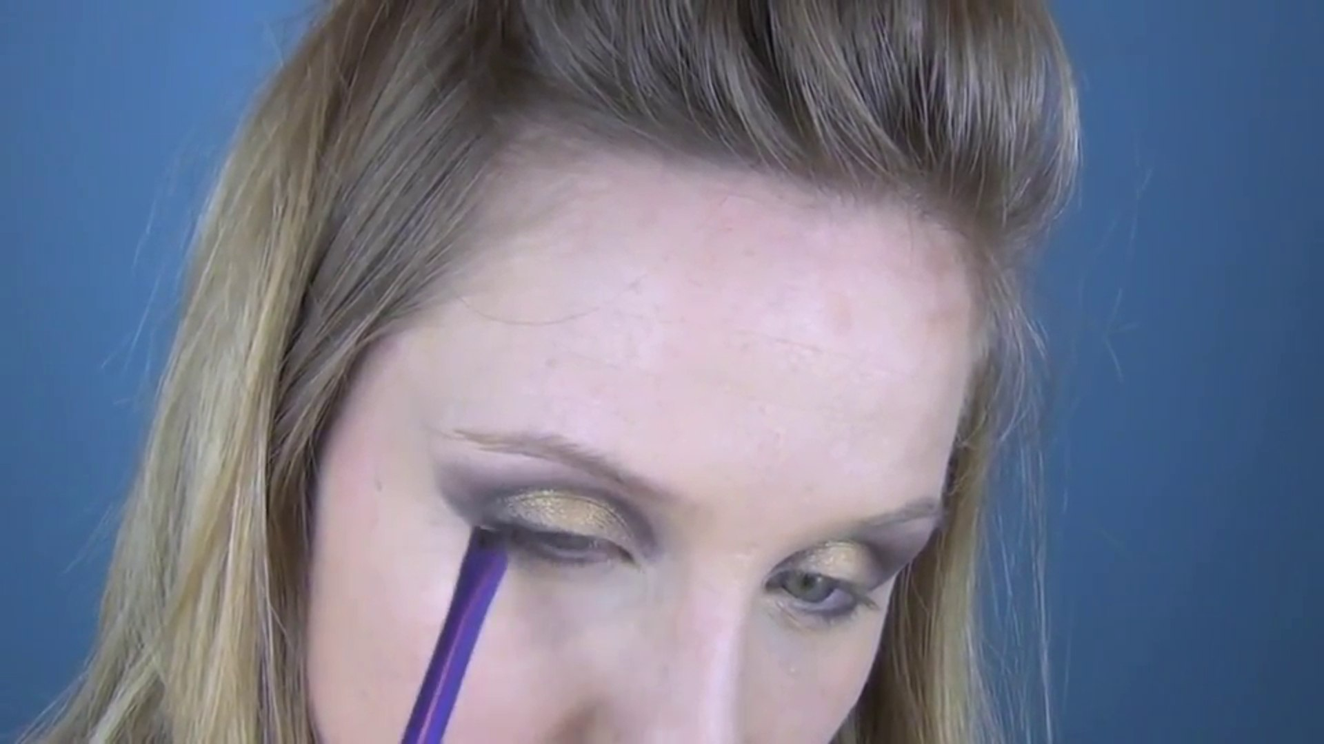 Purple and Gold Party Makeup Tutorial