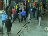 Football Hooligans Liverpool and Manchester City at Lime Street Station 13 April 2014