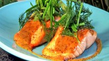 How To Cook Slow Roasted Salmon With Sweet Mustard Sauce