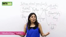 Spoken English Lessons - Niharika ( ESL ) - How to talk about your family? - English Lesson ( Free ESL Lessons)
