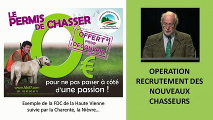 AG des Chasseurs de Vendée - le 11 Avril 2015 (REPLAY)