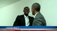 Barack Obama rencontre Usain Bolt en Jamaique